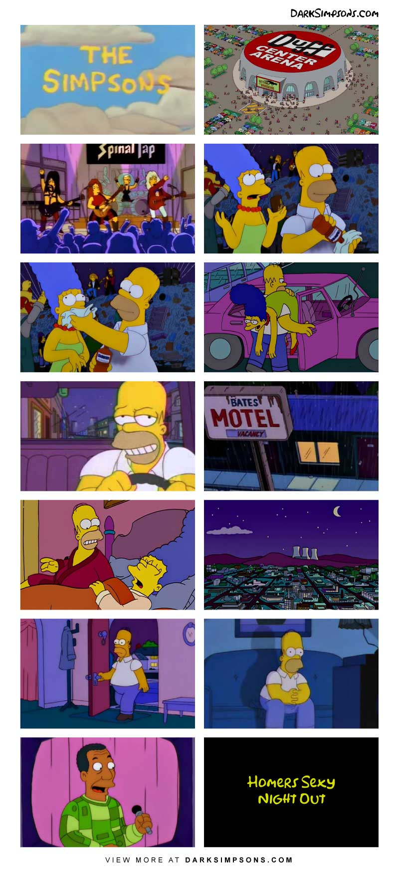 Homer Follows In His Heros Footsteps And Attends A Spinal Tap Concert Where He Meets An