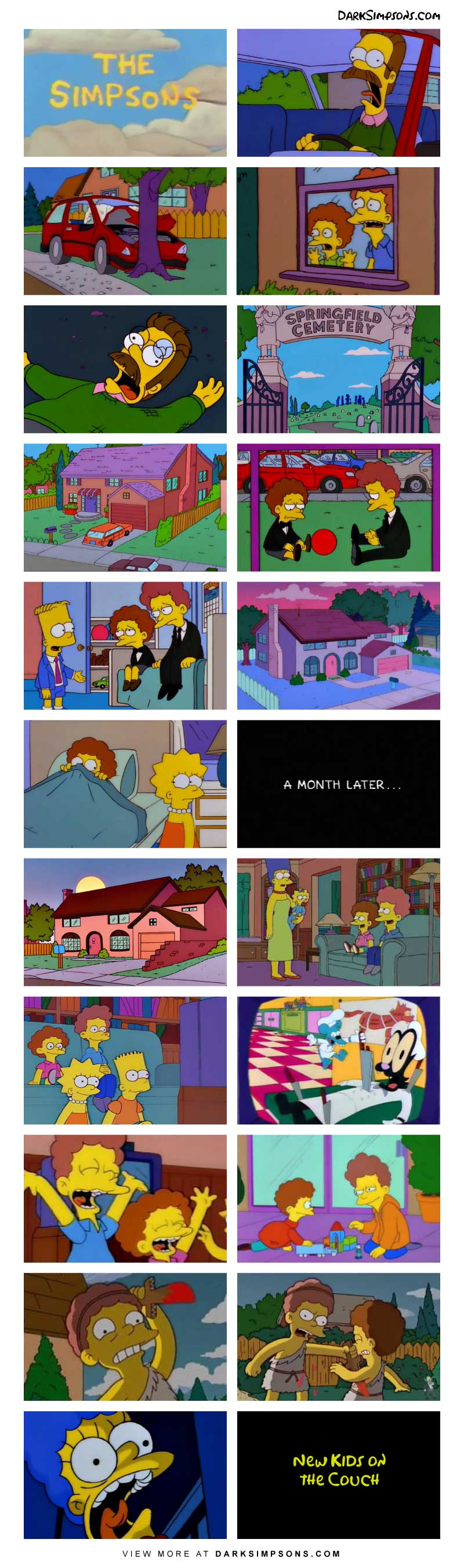 After an unfortunate accient strikes the Flanders family. Rod and Todd come to stay with the Simpsons for the forseeable future. But adjusting to a new family can be difficult, especially coming from a strict household to the Simpsons family.