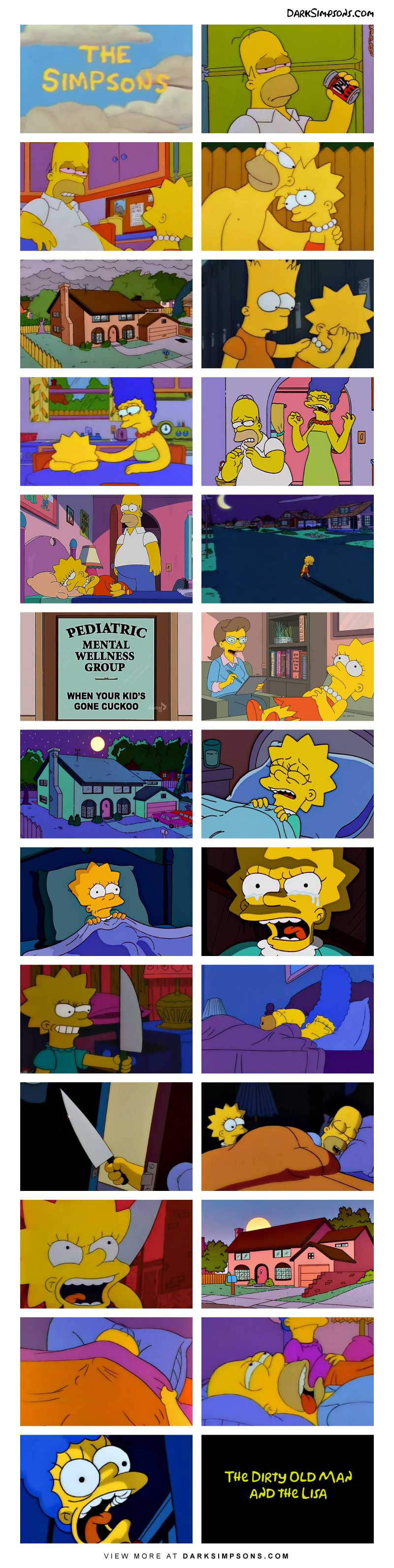 It's a weeknight and Homer is a home enjoying a few drinks. Before you know it, he is sloppy drunk. He then makes an unforgivable mistake and that scars Lisa. Things will never be the same in the Simpson house.