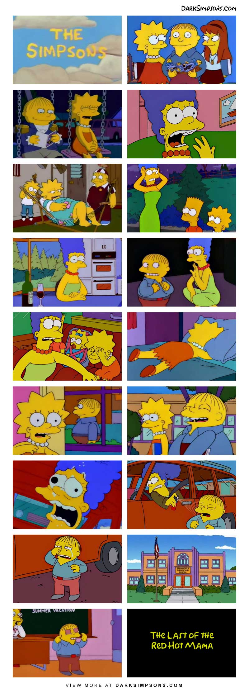 Lisa has a new love interest, Ralph! Marge disapproves after she has a vision of their failure of a future. She must stop them!