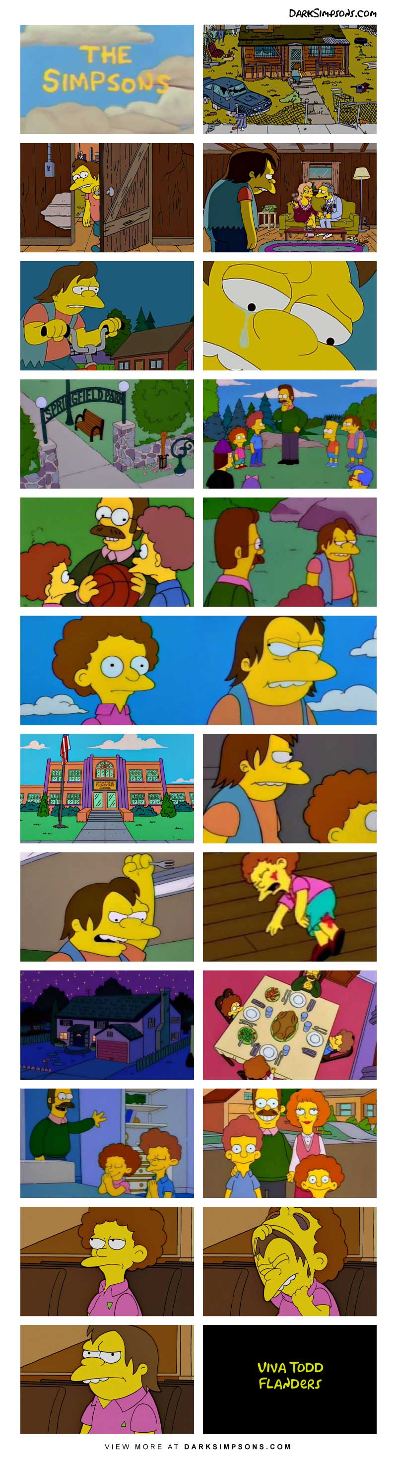 Long live Todd Flanders! Nelson Muntz comes from a broken home, when he sees the happy Flanders family, he gets jealous. Todd Flanders doesn't deserve such a cool family, so Nelson hatches an evil plan.