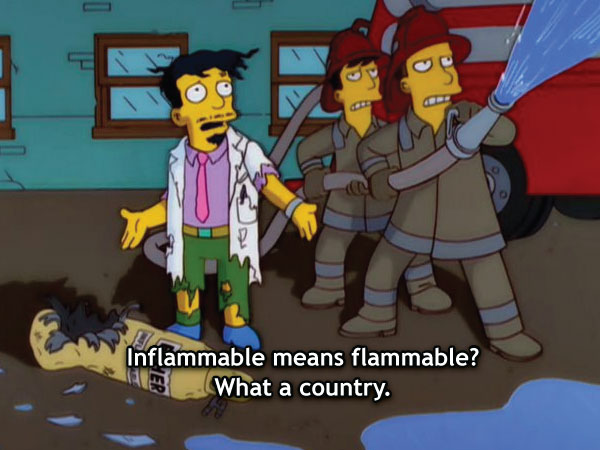 Inflammable Means Flammable?