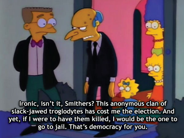 Ironic, Isn't It, Smithers?