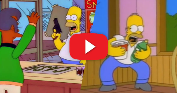Homer Robs the Kwik-E-Mart