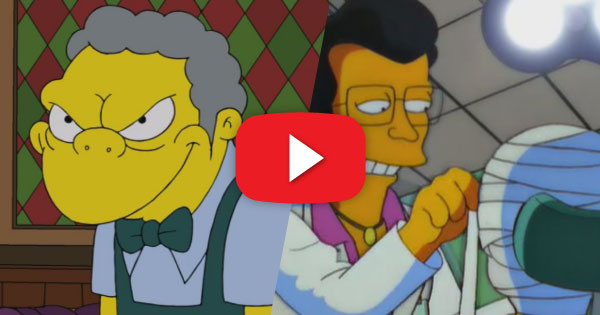 Moe and Homer Face Off