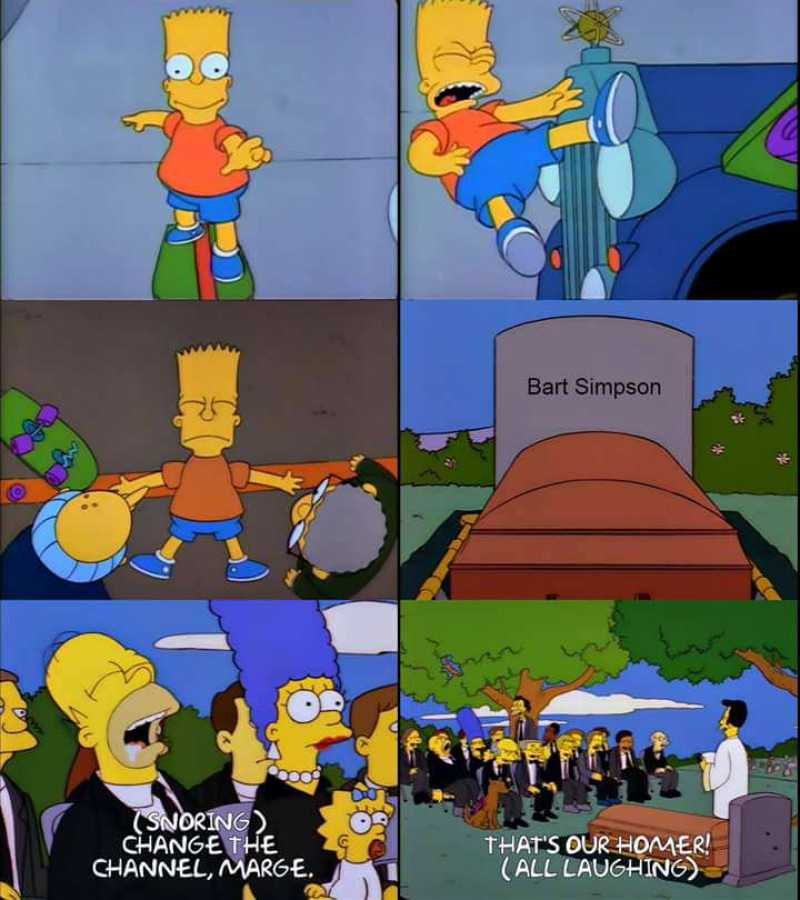 "An alternate ending to the episode ""Bart Gets Hit by a Car""."