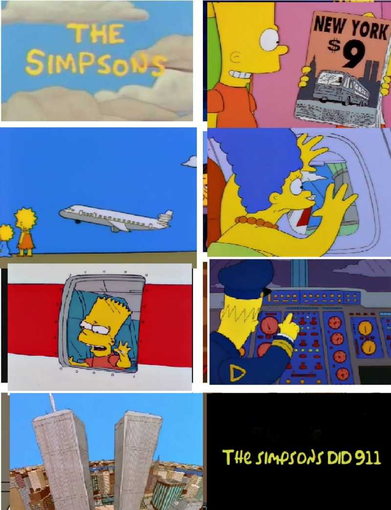 The Simpsons did 911.  Lisa and Maggie stayed behind, but Bart was definitely on board.