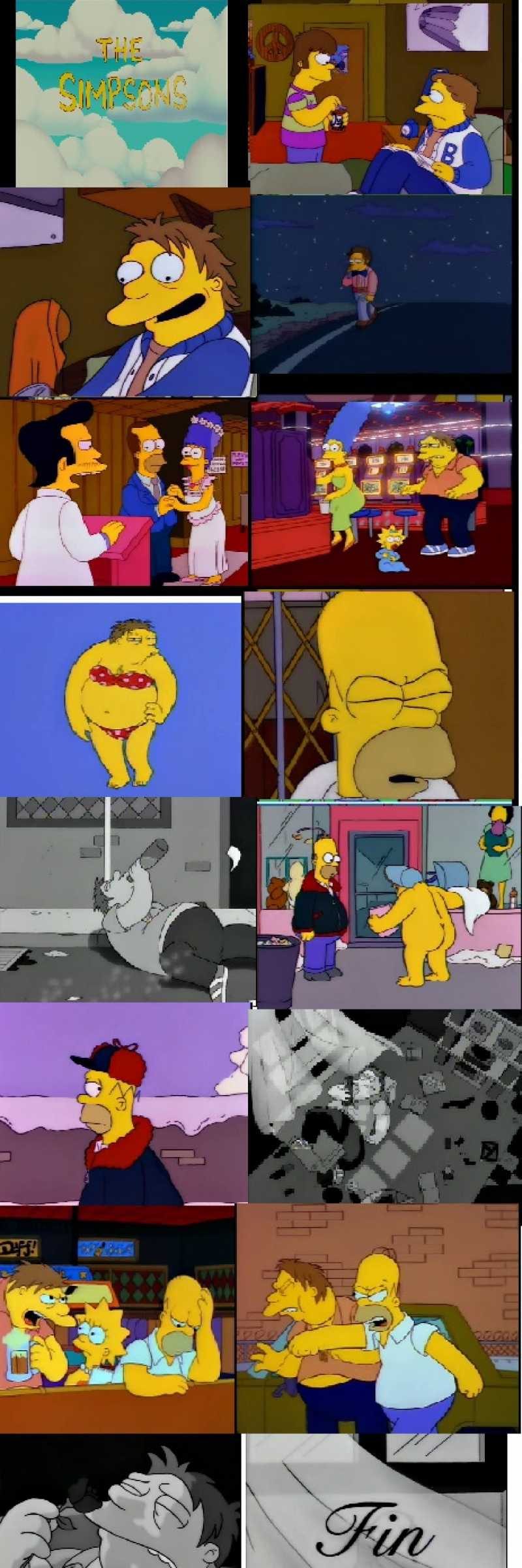 After a drunken college tryst, Barney has never forgotten Homer, even after he marries a compulsive gamblor and rejects his numerous attempts at seduction, sending Barney spiraling into a cycle of beer and sour defeat.