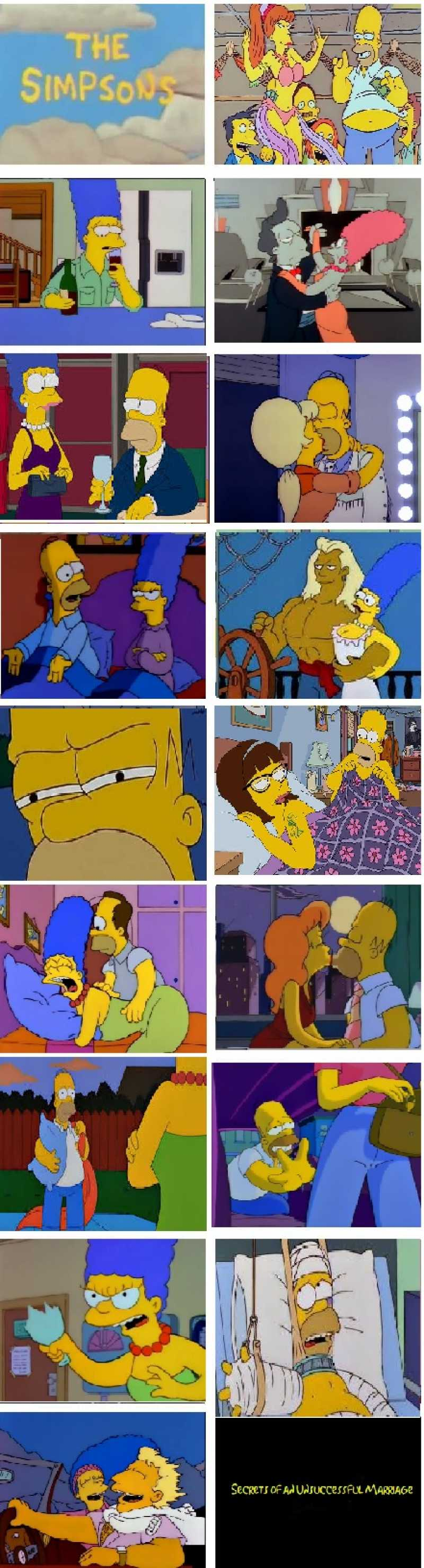 Homer has never exactly been faithful, but even philandering Marge has her limits.